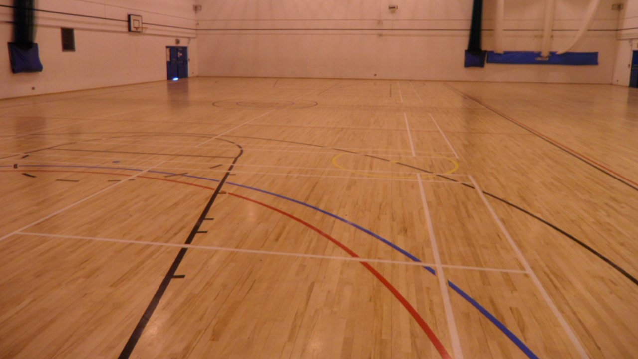 Wood Floor Restoration Of Sports Hall At Somers Town