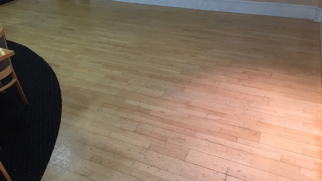 Wood Floor Restoration At Bannatyne Fitness Folkestone