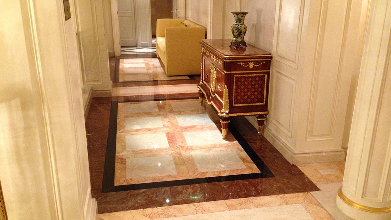 Stone Floor Restoration At The Bentley Hotel Www Renue