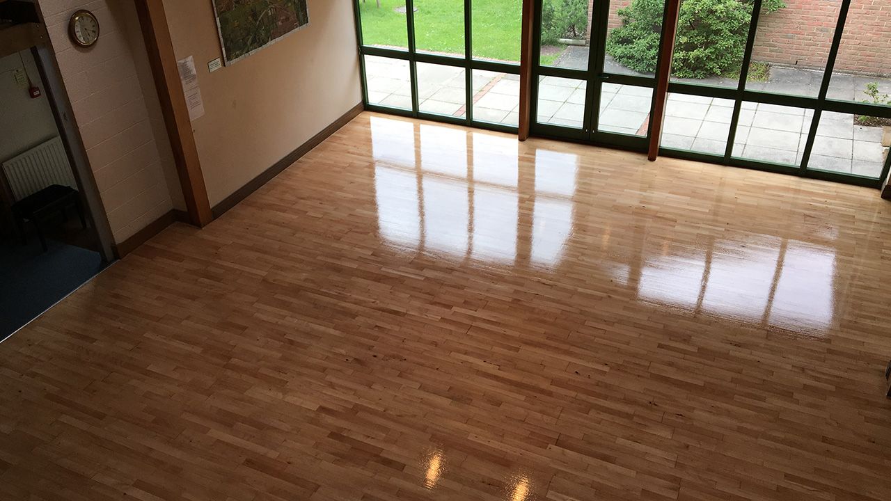 Wood Floor Restoration Thorngrove Primary School Renue